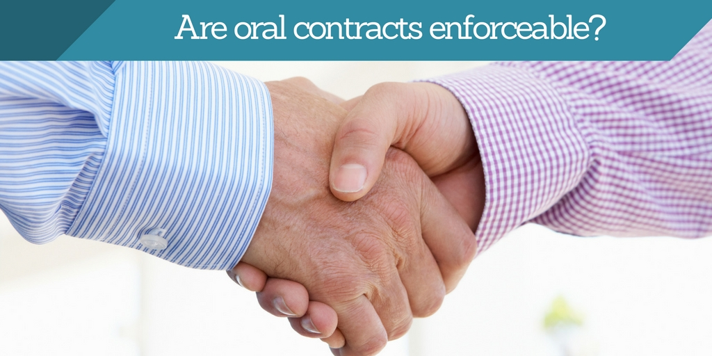 Are Oral Contracts Enforceable in California?